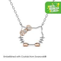 Kalung Kristal Kitten Pendant Crystals Swarovski® by Her Jewellery