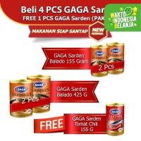 GAGA Sarden Balado 4pcs FREE GAGA Sarden Tomato Chilli 1pc (GGC)