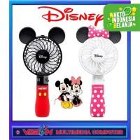 Kipas Angin Karakter Mickey Minnie Mouse LED / Fan Portable Karakter