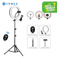 INBEX 8'' Ring Light with 210CM Tripod & Bluetooth Remote shutter