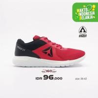 Aerostreet 39-42 Crossfit-Hitam-Merah -Sepatu Sneakers Casual Pria