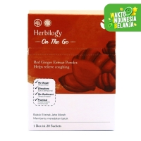 Herbilogy On The Go - Red Ginger/Jahe Merah (isi 20 sachets)