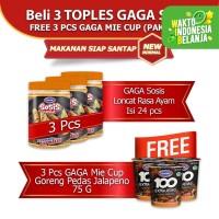 GAGA Sosis 3 toples GRATIS 3 pcs Mie Cup Goreng Jalapeno (kode41)