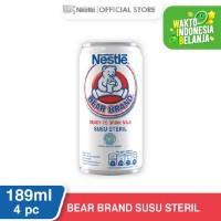 NESTLE BEAR BRAND Susu Sapi Sapi Steril Siap Minum Kaleng 189ml 4 pcs