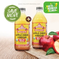 Bragg, Organic Apple Cider Vinegar (ACV / Cuka Apel) 473 ml for 2pc