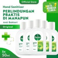 Dettol Hand Sanitizer Original 50 ml Screw Cap Bottle - 5 Pcs