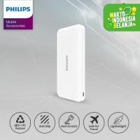 PHILIPS DLP 6812N PowerBank 10,000mAh Li-Polymer 2.1A, Type C - White