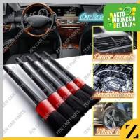 Kuas Auto Detailing Brush 1 set isi 5 Kuas Salon Mobil Lembut Merah