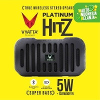 VYATTA Platinum Hitz TWS Speaker - Stereo, Bluetooth, USB/TF-MEGA BASS - Briliant Black