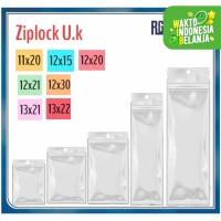 Plastik ziplock Ukuran 11x20/12x15/12x20/12x21/12x30/13x21/13x22 Cm