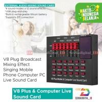 Soundcard V8 Plus Mixer Audio USB External Plus Bluetooth
