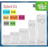 Plastik ziplock Ukuran 8.5x16/9x16/10x12/10.5x15/10x18/11x16/11x18 Cm
