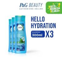 Herbal Essences Shampo Hello Hydration 300 ml - Paket isi 3
