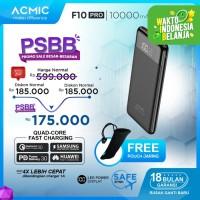 ACMIC F10PRO 10000mAh Slim PowerBank (Digital Display + QC3.0 + PD)