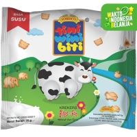 TINI WINI BITI biskuit anak Susu 20 g bentuk binatang 3 sachet
