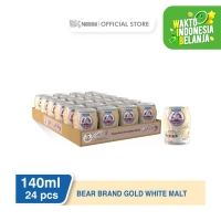 NESTLÉ BEAR BRAND GOLD White Malt Minuman Siap Minum 140ml 24 pcs
