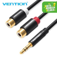 Vention [R02] Kabel Aux Audio Splitter 3.5mm Male to 2 RCA Female