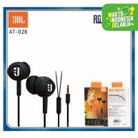 Handsfree / earphone JBL AT-028 / AT028 + MIC Good Quality Super Bass