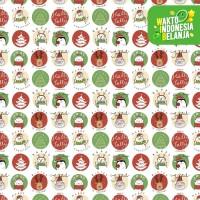 Kertas Kado Natal Harvest / Wrapping Paper Xmas Joyland White