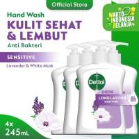 Dettol Sabun Cuci Tangan Sensitive 245ml x 4pcs Pump [PAKET HEMAT]