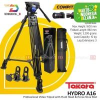 Tripod TAKARA HYDRO A16 Tripod Profesional Fluid Head Video Maker 1,6M