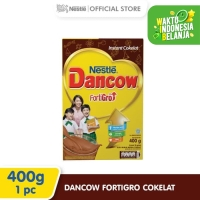 Nestlé DANCOW FortiGro Susu Bubuk Cokelat Usia Sekolah Box 400g 2 pcs