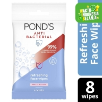 Pond'S Antibacterial Face Wipes, Alcohol-Free, With Aloe Vera