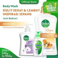 Dettol Sanitizer 200ml + Hand Wash 245gr + Body Wash Honey 950gr x2pcs