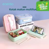 ecentio Kotak Bekal Makan Siang Jerami Gandum Kapasitas 1000 ml
