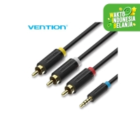 Vention BCB 1.5M - Kabel Aux 3.5mm Male to 3 RCA Male Audio Video