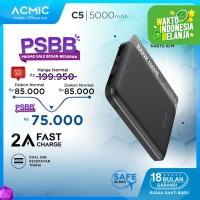 ACMIC C5 5000mAh Mini PowerBank (2A Fast Charge Input & Output)