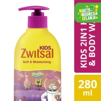 Zwitsal Kids 2 In 1 Sabun Mandi Cair Anak Soft And Moisturizing 280Ml