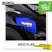 Hayaidesu Mud Flap Penahan Lumpur Motor Honda Beat FI - Japan Quality - Biru