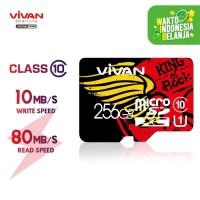 VIVAN V256U10 256GB Class 10 Micro SD TF Card Black + Red