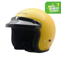 Helm Cargloss Retro Excotic Yellow - Kuning, SIZE M