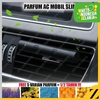 Parfum Slim Jepit Klip Stick Kisi Kisi AC Mobil Diffuser FREE 5 Refill