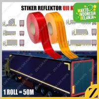 1m 1 meter Stiker Uji KIR Reflektor Sarang Tawon Truk Fuso Mobil Bak