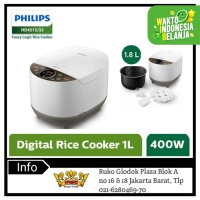 PHILIPS HD4515 Rice Cooker Digital 1.8 Liter Fuzzy Logic HD4515/33