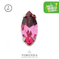 Batu Torenda Ceko Payet Kristal Jahit Size 7x15mm Light Rose/pcs