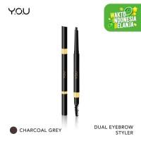 YOU Dual Eyebrow Styler 01. Charcoal Grey