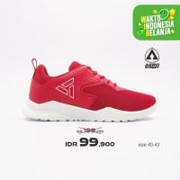 Aerostreet 40-43 Delta Merah Putih - Sepatu Sneakers Sport Pria Wanita