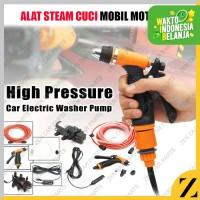1PAKET Set Alat cuci steam Pompa Mesin Stim Mini DC 12 Volt 70 Psi