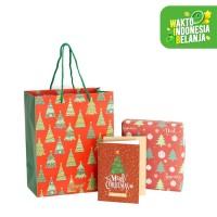 Paket Premium Kemasan Kartu dan Kertas Kado Natal - Christmas Joy