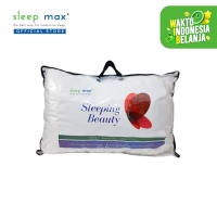 Sleep Max Sleeping Beauty Pillow/Bantal Isi Microfiber 50x70 Cm-Tas