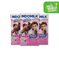 SUSU UHT INDOMILK KIDS STRAWBERRY 115 ML X 3 Pcs