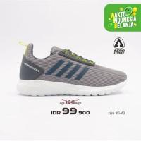 Aerostreet 40-43 Questar Abu Neon - Sepatu Sneakers Sport Pria Wanita