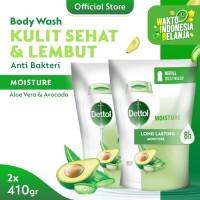 Dettol Sabun Mandi Cair Aloe Vera & Avocado 410 gr Refill (2 pcs)