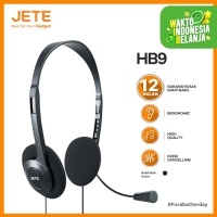 Headset Microphone Stereo Sound - JETE HB9 I Garansi Resmi 1th