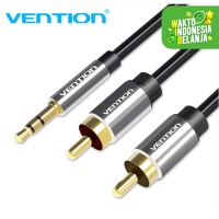 Vention [BCF 1.5M] Kabel Audio 3.5mm male To 2 RCA Male High Quality