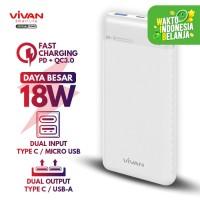 VIVAN Power Bank 10000mAh 2 Input 2 Output Fast Charging PD QC3.0 M10